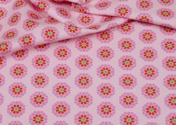 Hilco Jersey Flowers rosa