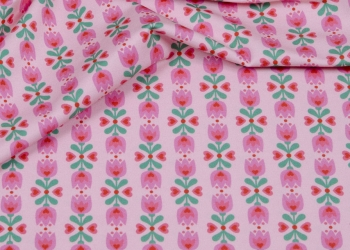 Hilco Jersey Tulpen rosa