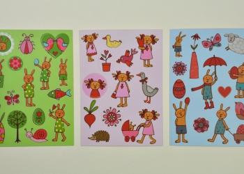 Hasenbande Aufkleberpostkarten