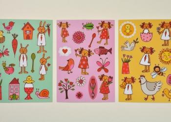 Hasenbande Aufkleberpostkarten klein