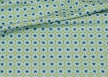 Hilco Jersey Bluemchen gruen