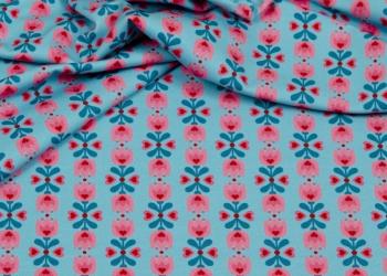 Hilco Jersey Tulpen blau