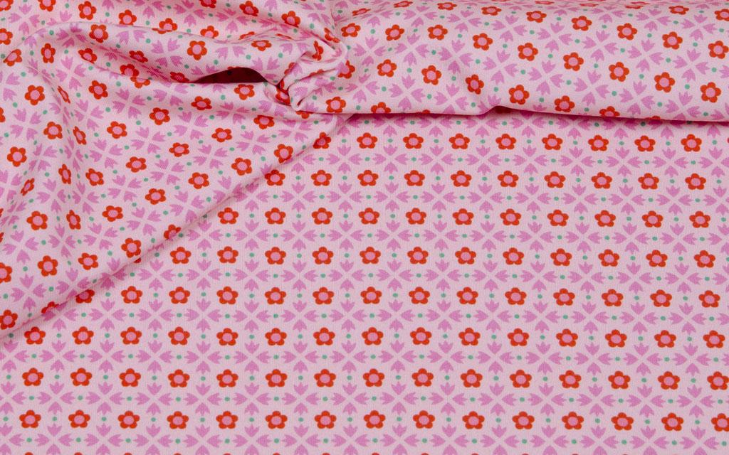 Hilco Jersey Bluemchen rosa